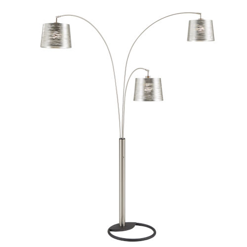 Mori Polished Nickel Three-Light Tree Floor Lamp